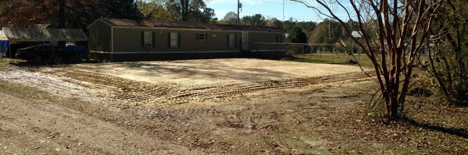 New dirt work house pad
